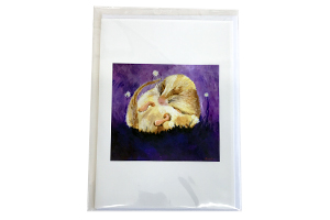 Sleepy Dormouse Card