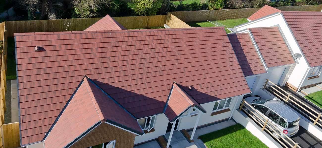 red modern tiled roof