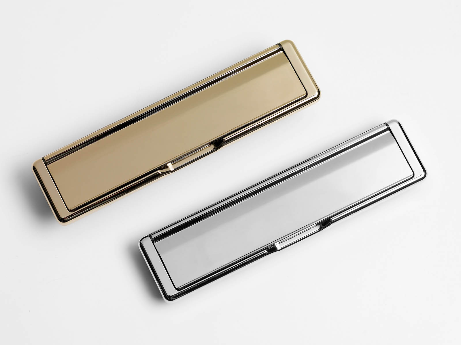 letterbox colour door furniture options showing gold and silver