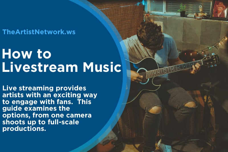 an artist learning how to live stream music