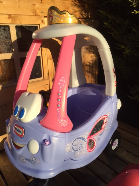 Little Tikes cozy coupe princess edition