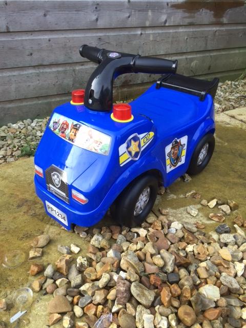 Blue paw patrol ride on toy