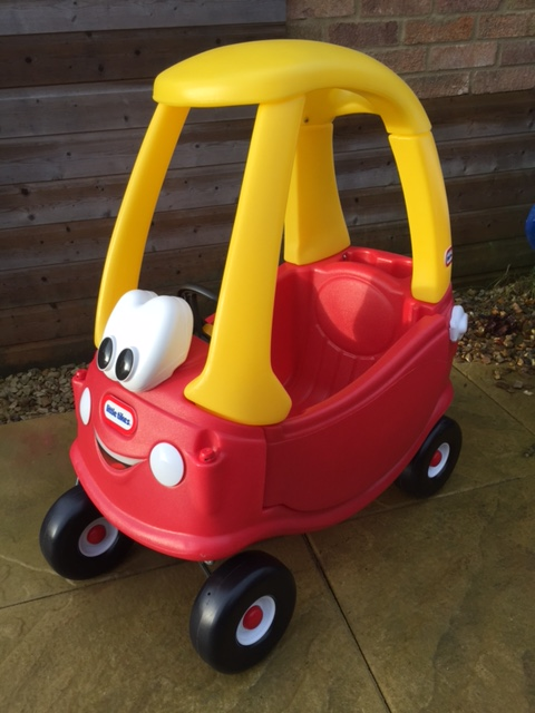 Classic Little Tikes red and yellow ride on toy