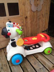 multicoloured Zebra ride on toy
