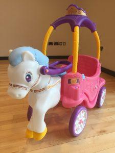 Little Tikes unicorn carriage ride on toy