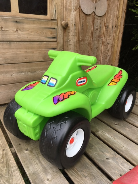 Green quad ride on toy