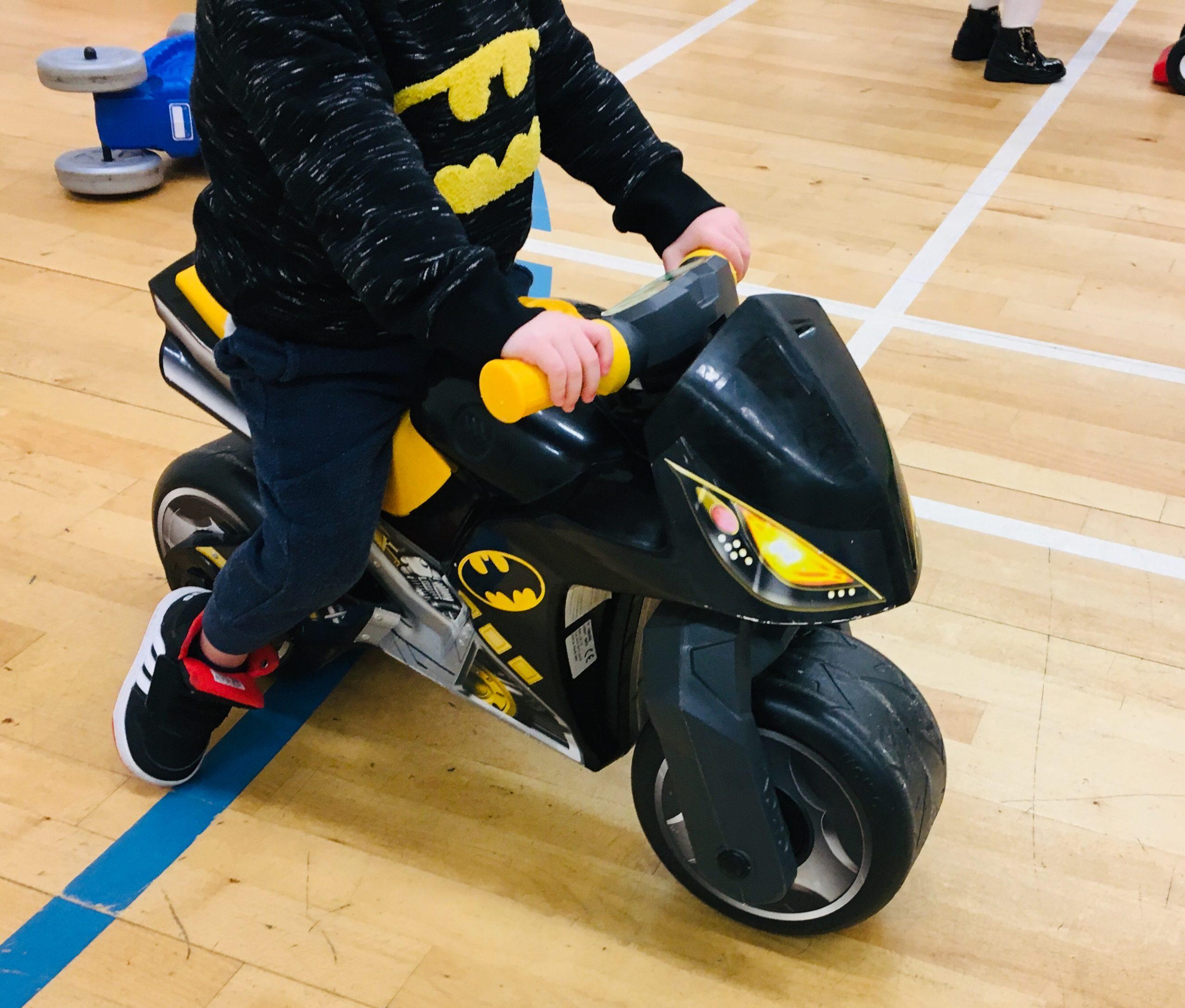 black Batman bike ride on toy
