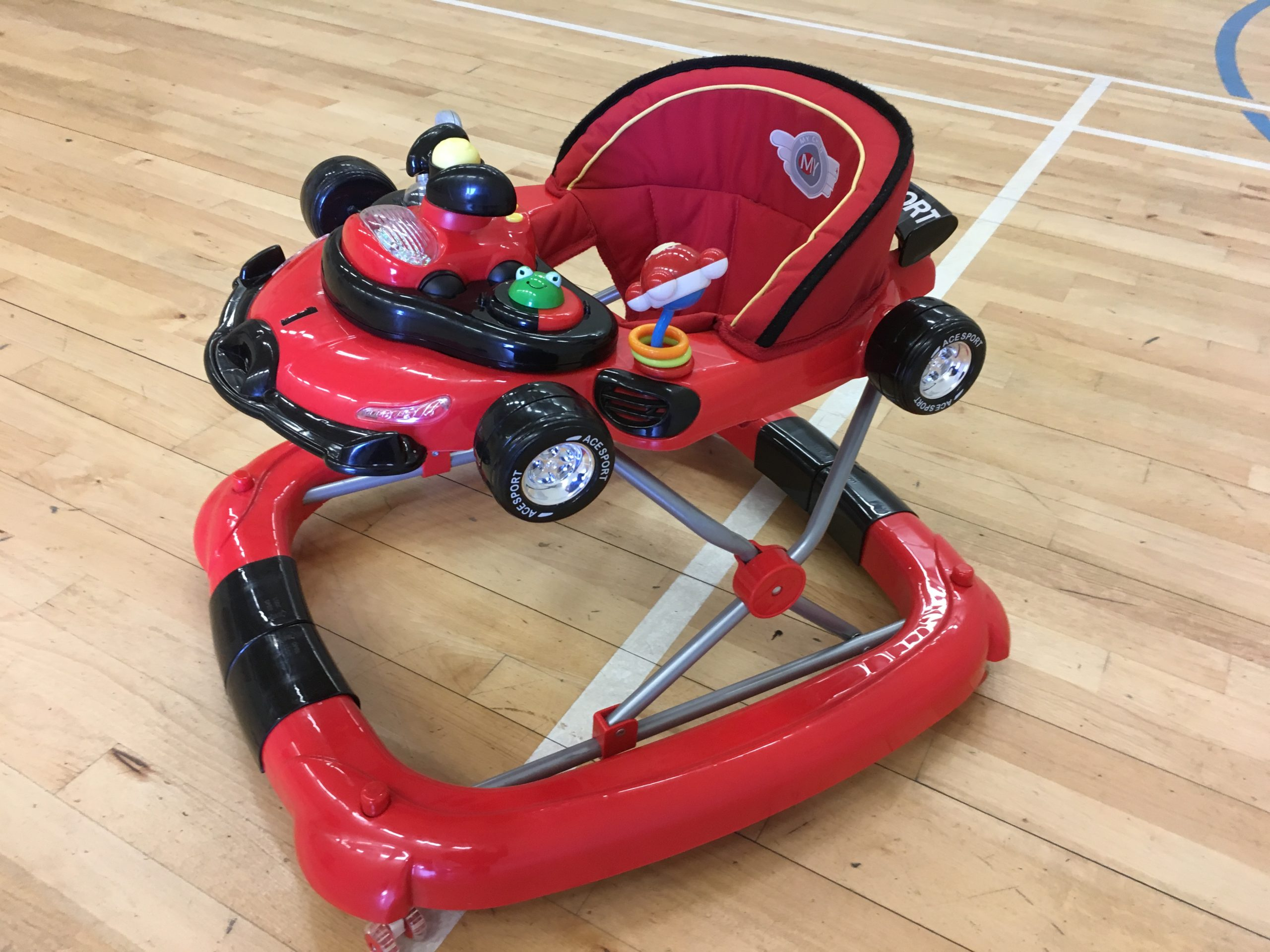 Racing car baby seat ride on toy stroller