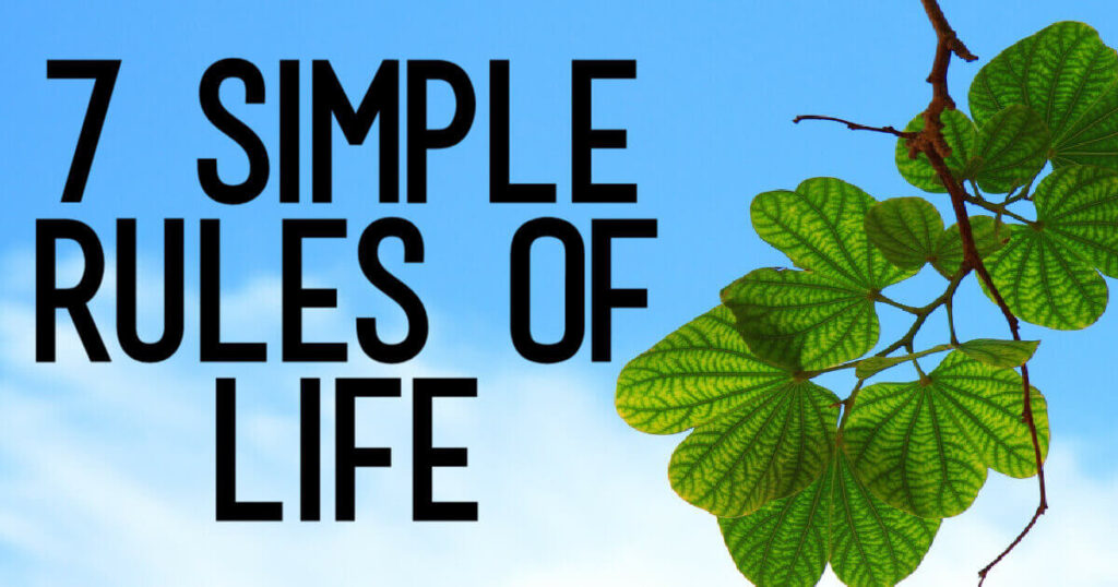 7 Simple Rules of Life