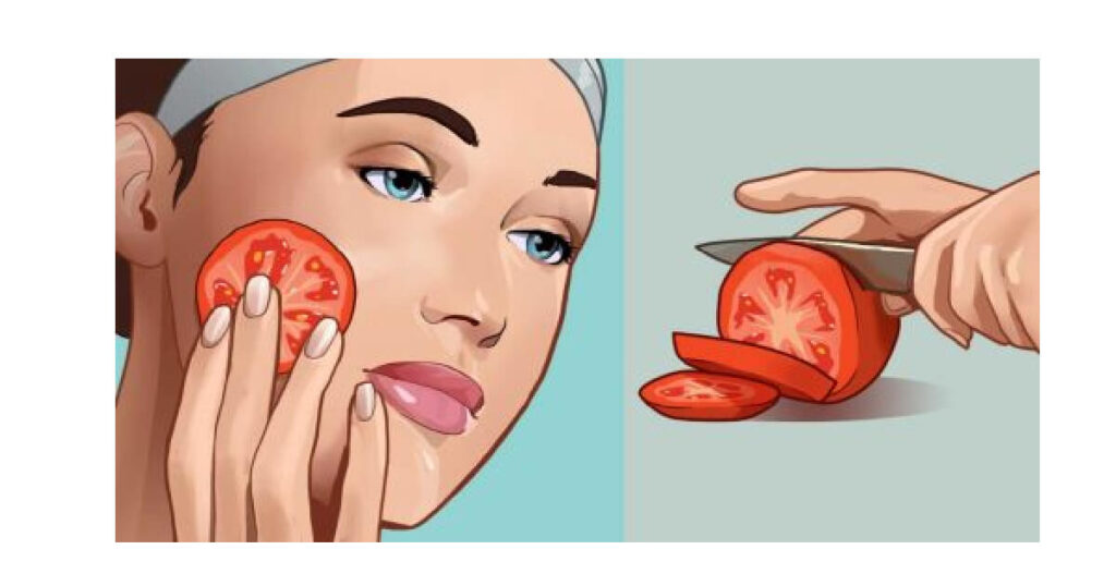Rub a slice of tomato on your face and THIS could be the result!