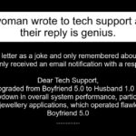 A woman wrote to tech support and their reply is genius.