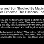 Father and Son Shocked By Magic Lift. Hilarious Ending.