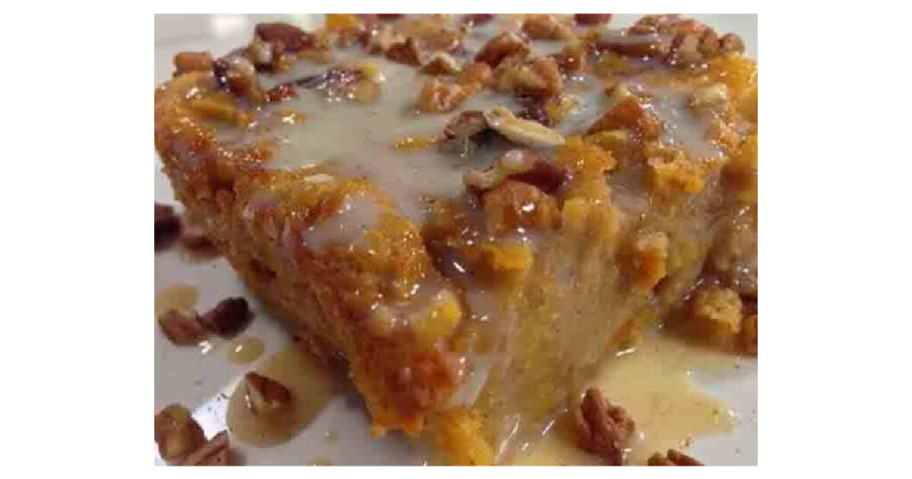 Old-Fashioned Bread Pudding with Vanilla Sauce