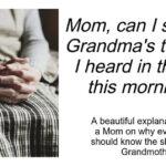Mom Can I sleep At Grandmas Tonight