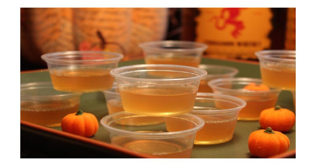 Apple Cider Jello Shots With Fireball Whiskey Recipe.
