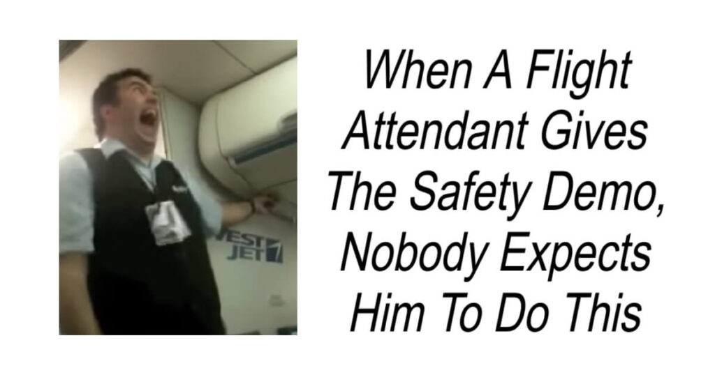 Flight Attendant Gives Hilarious Safety Demo
