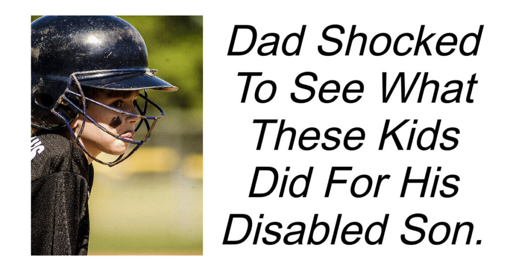 Dad Shocked To See What These Kids Did For His Disabled Son.