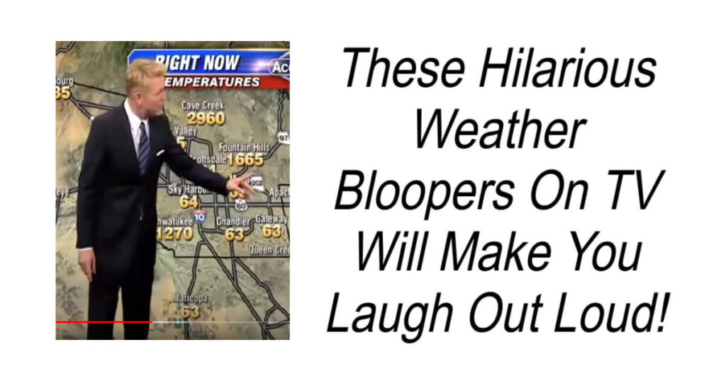 Hilarious Weather Bloopers On TV