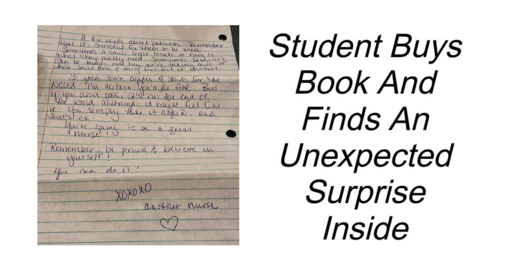 Student Buys Book Finds An Unexpected Surprise Inside