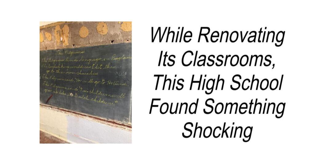 While Renovating This High School Found Something Shocking