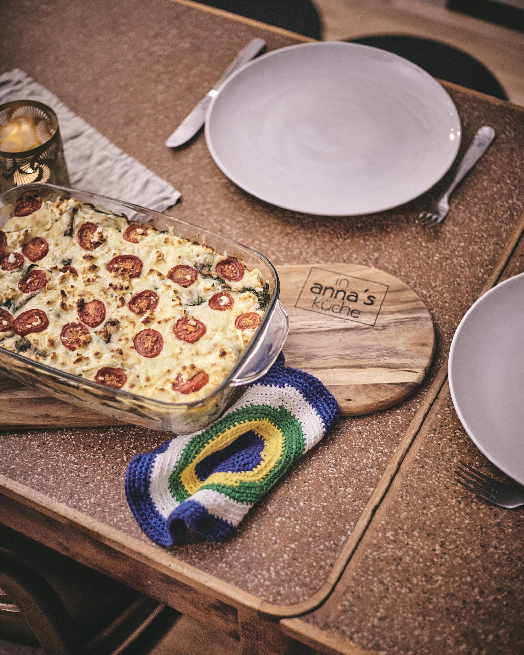 frische Lasagne Spinat Kürbis in Annas Küche
