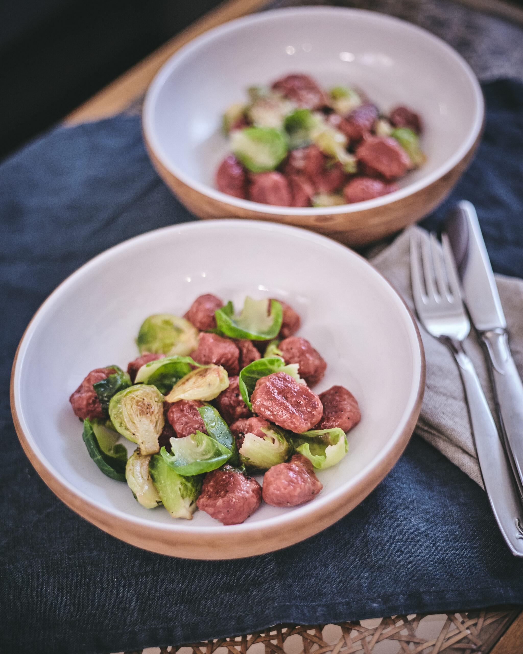 Gnocchi mit Rosenkohl in Annas Küche
