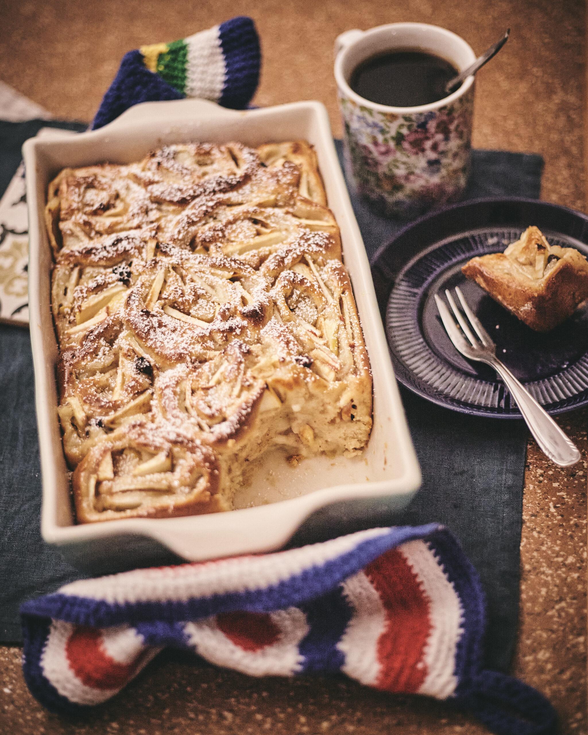 Bratapfelschnecken, Hefeteig, in Annas Küche
