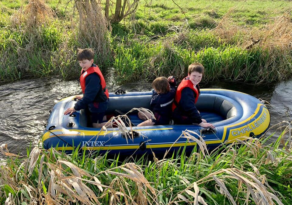 The boarders were off for some fun on and in the water, making the most of the beautiful weather.