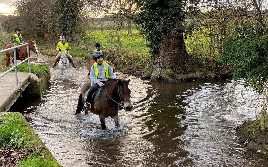 Out on a hack and into the river Pang which runs straight through our stunning 500 acre school estate. There is always somewhere new to explore!
