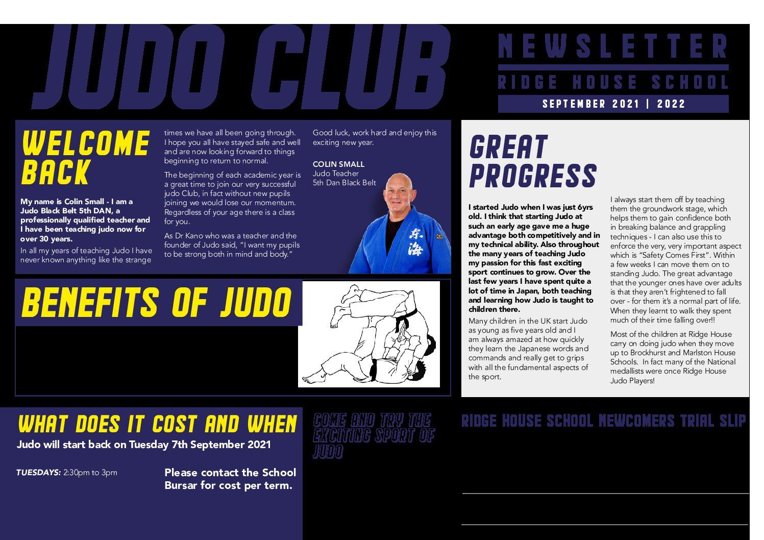Ridge House Judo Newsletter