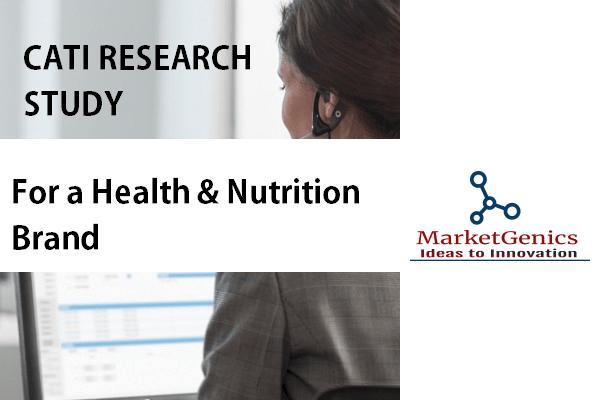 CATI Quantitative Study for a Health & Nutrition Brand