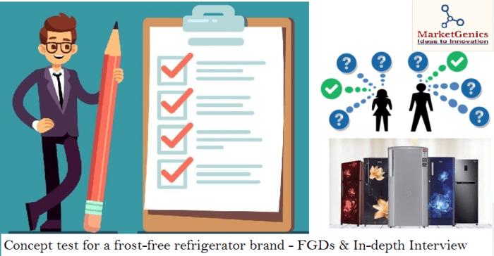 Concept test for a refrigerator