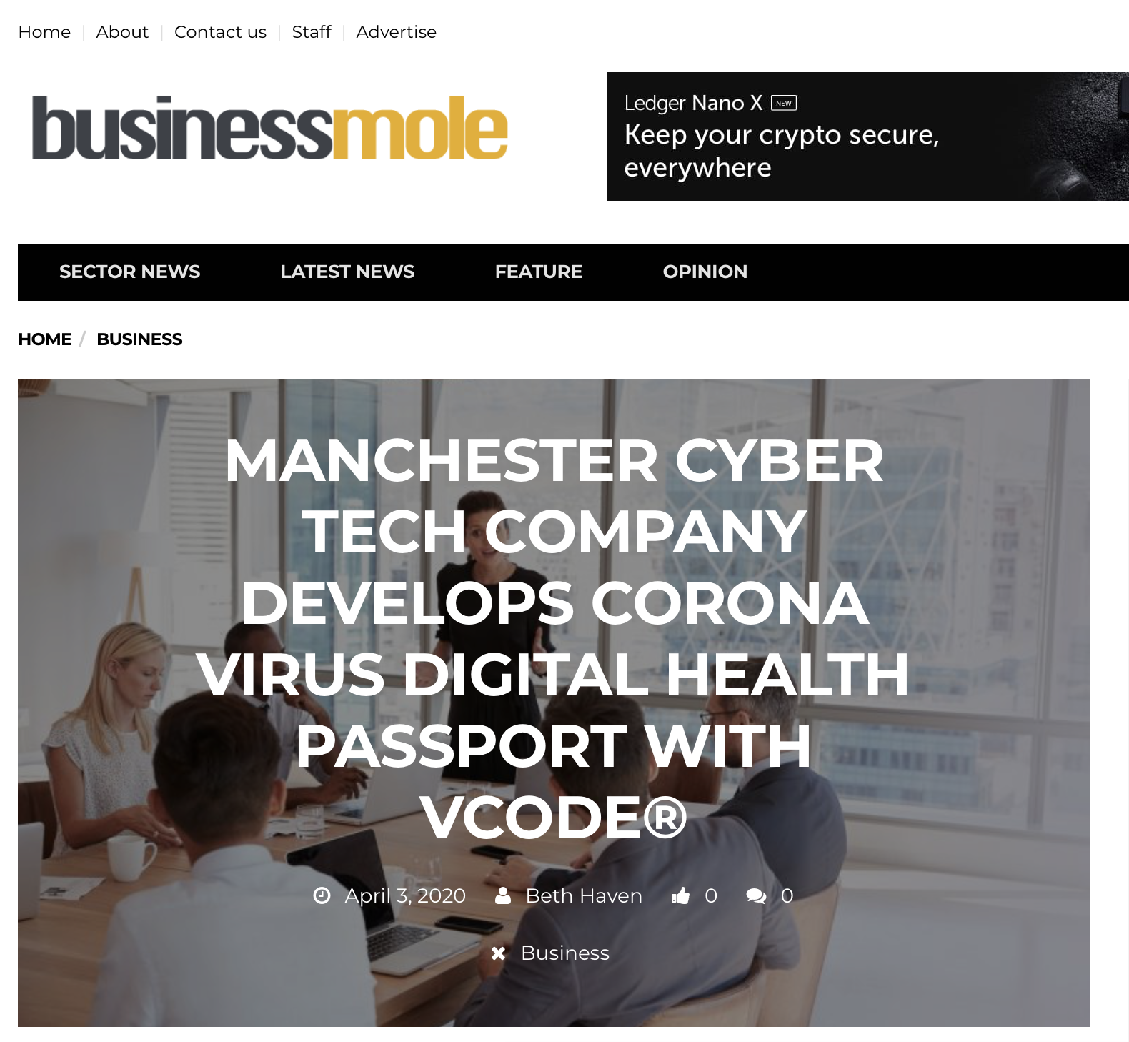 Business Mole - Health Passport - VST Enterprises