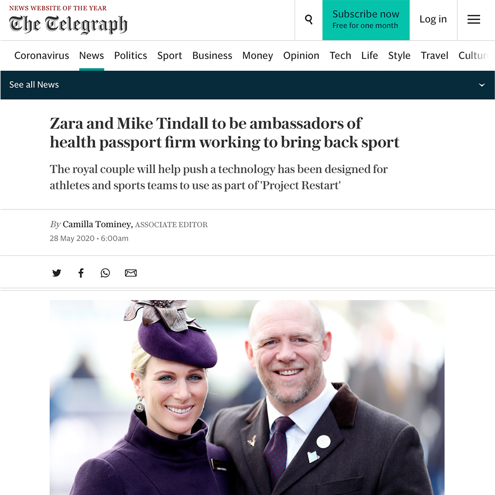 Mike & Zara Tindall