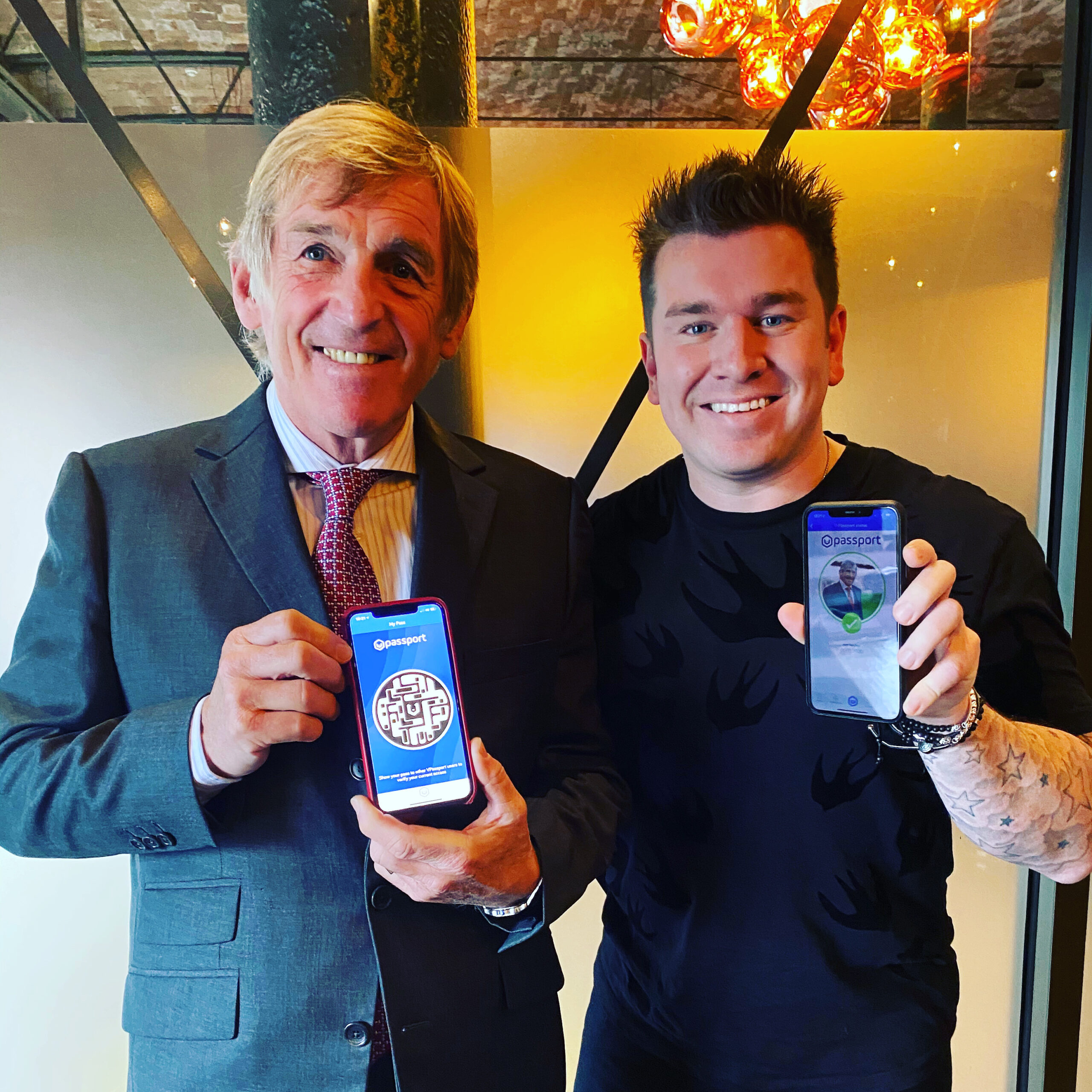 Sir Kenny Dalglish MBE & CEO Louis-James Davis