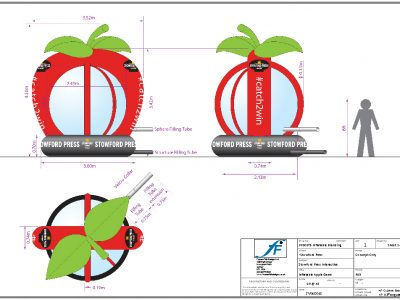 Technical drawings help client visualise the end product