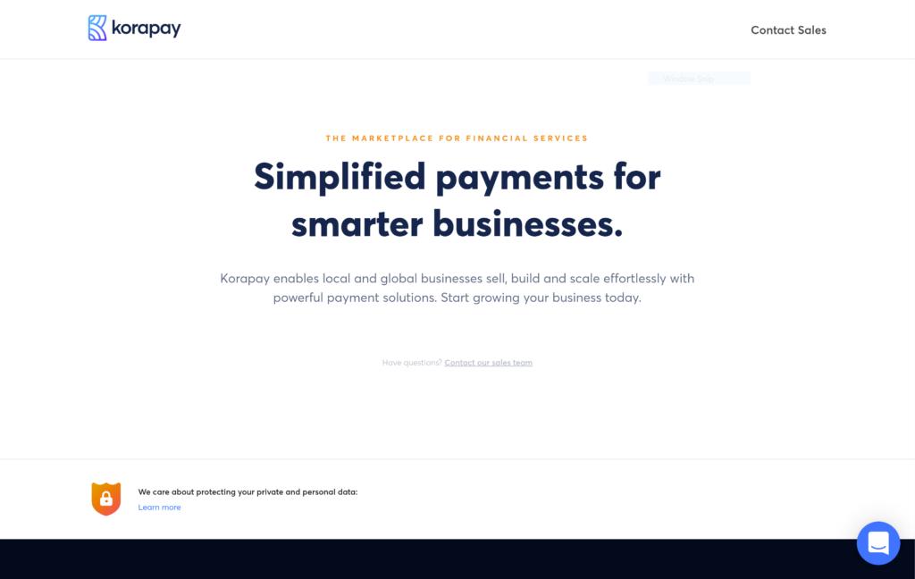 korapay homepage