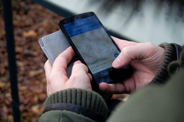 Smartphone google maps