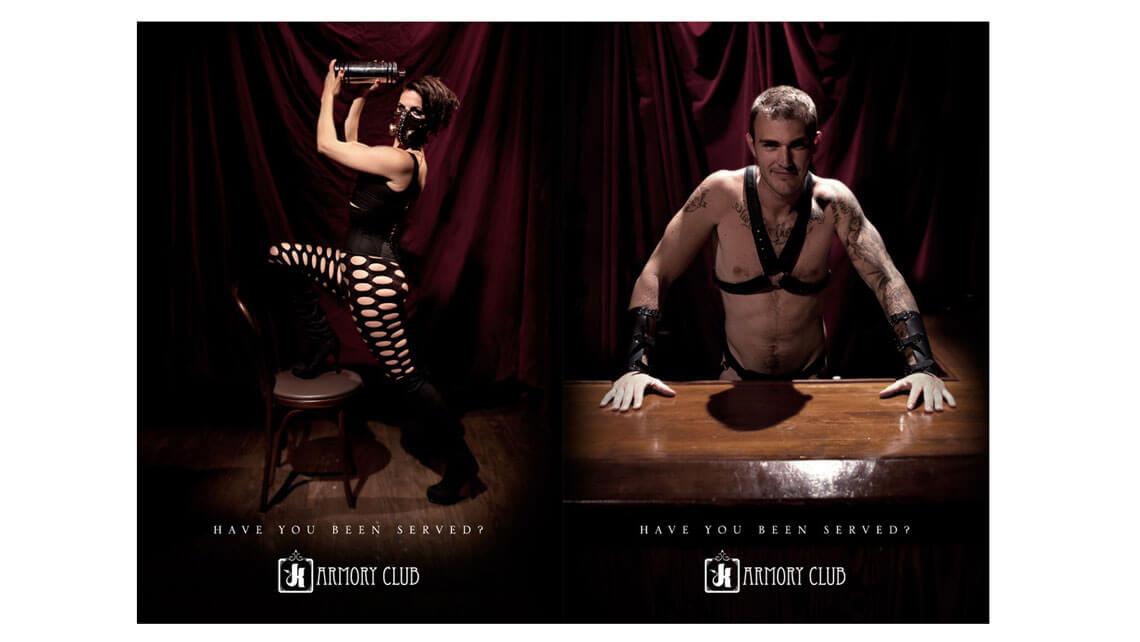 Armoury Club Branding