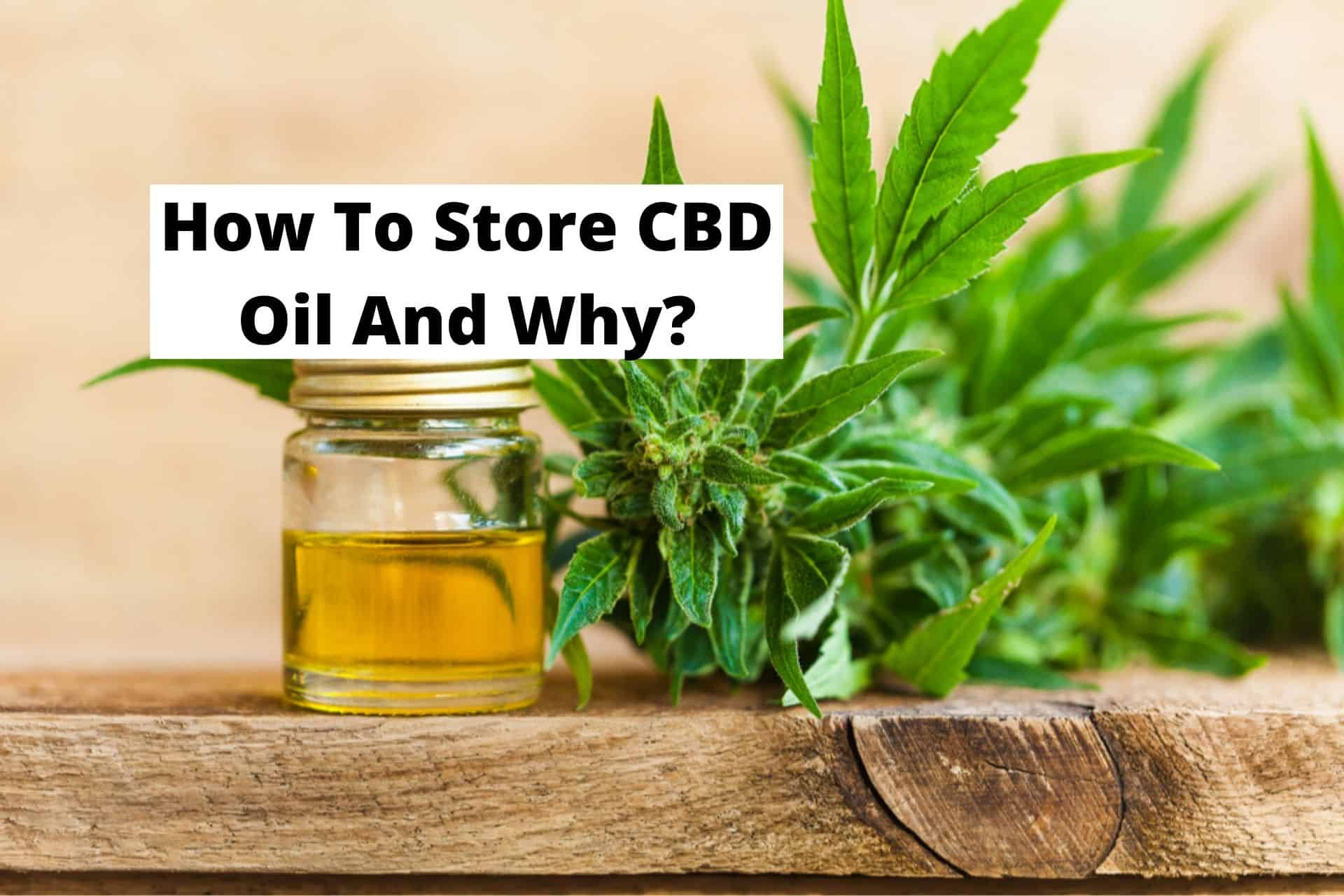 How To Store CBD Oil And Why?