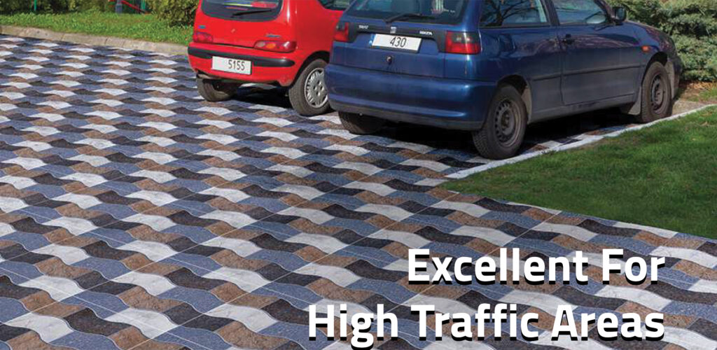 Porcelain tiles are Excellent for High Traffic Areas