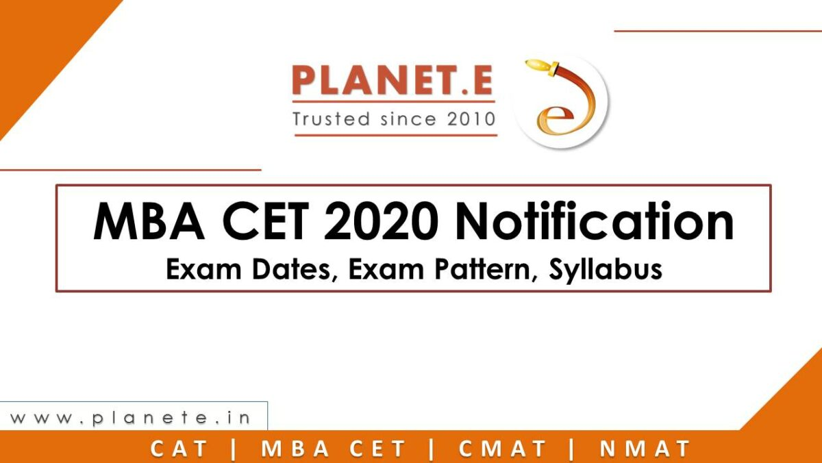 MBA CET 2020 Exam Notification