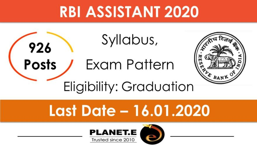 RBI Assistant 2020 Notification