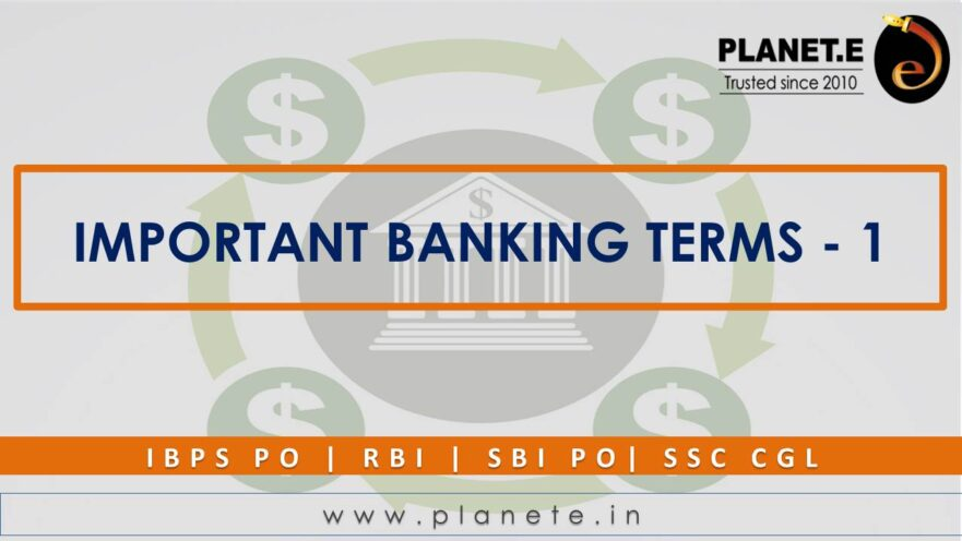 Important Banking Terms - 1