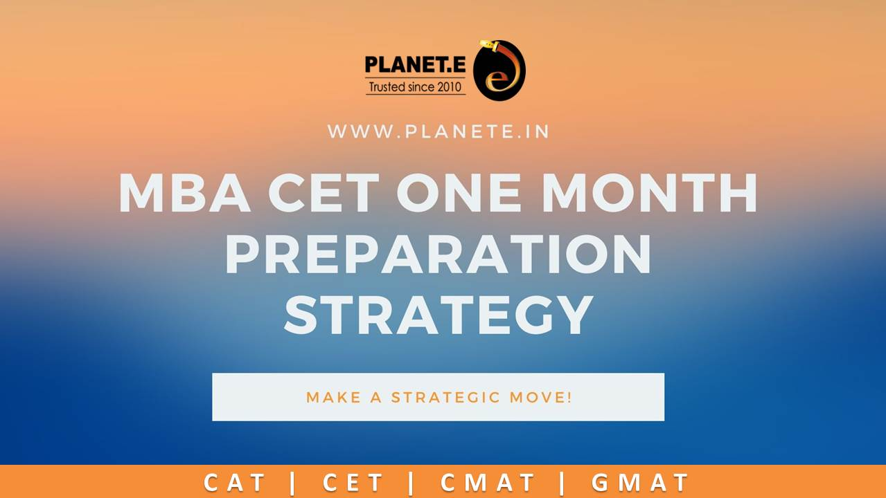 MBA CET One Month Preparation Strategy