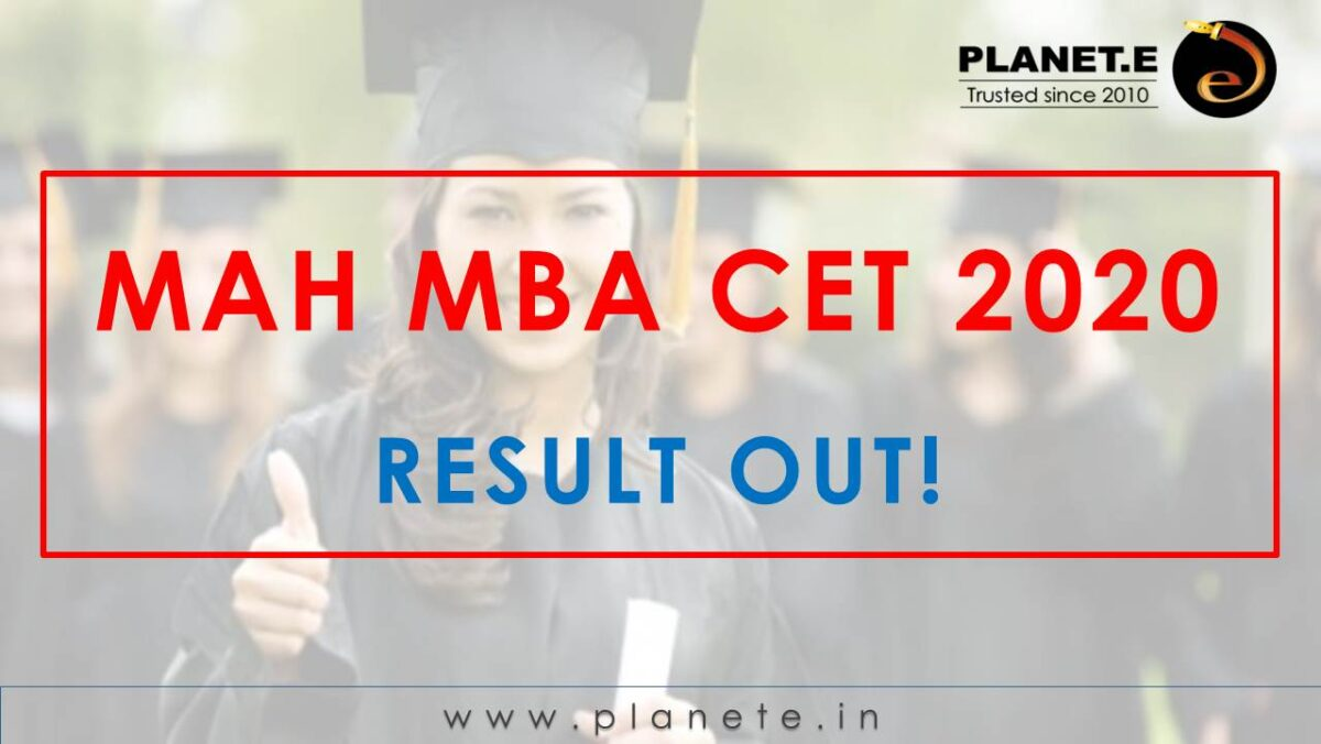 MAH MBA CET 2020 Result out