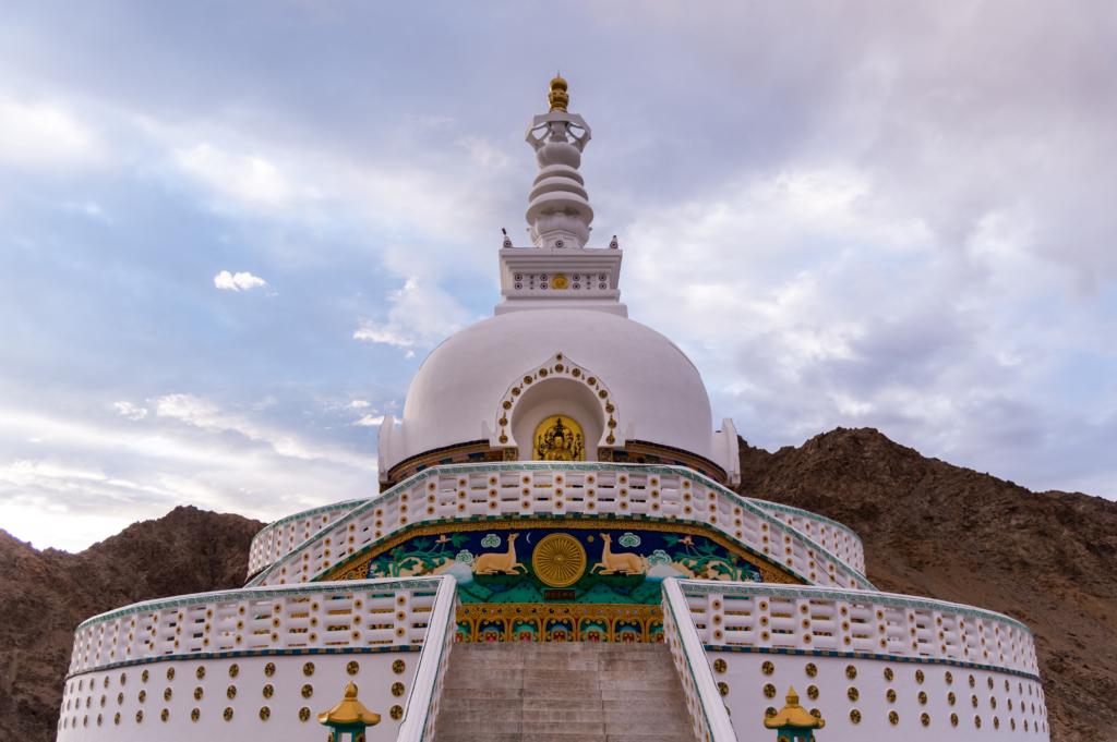 Majestic Shanti Stupa Chanspa