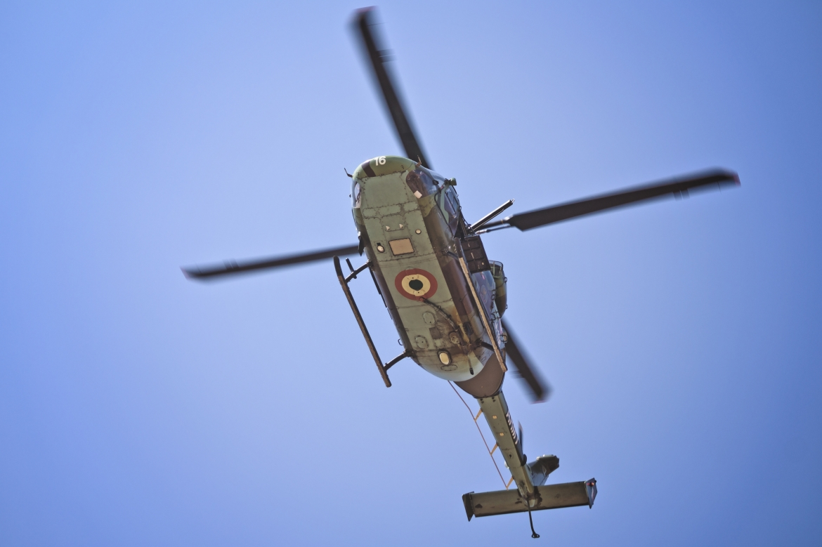 HAL Dhruv In Action At AeroIndia 2017