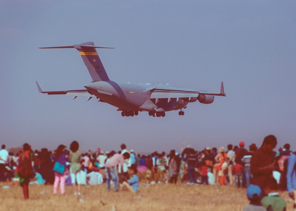 Landing Shot Of Magnificent C17 Globemaster