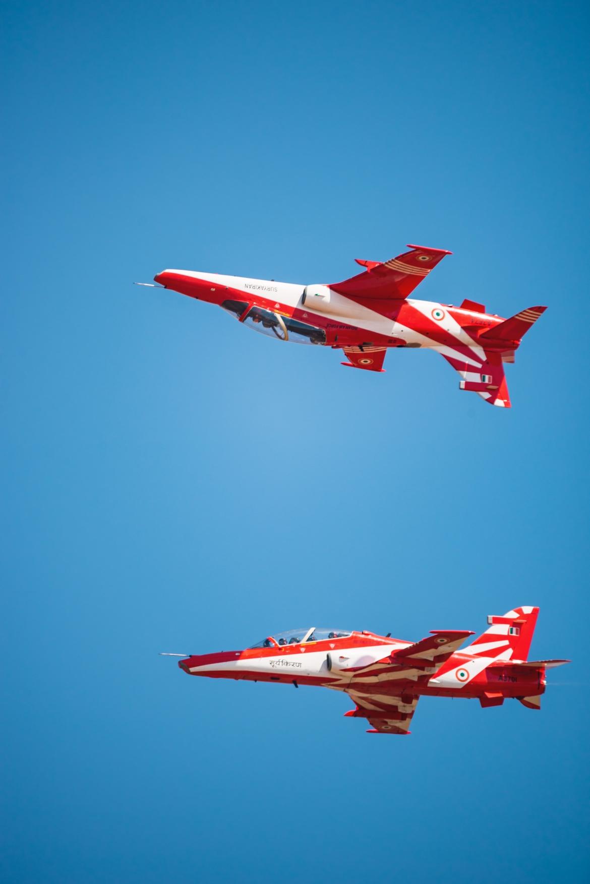 Stunts By Indian Air Force Surya Kiran Pilots